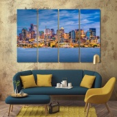 Seattle living room canvas art, Washington home goods wall art