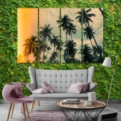 The palms trees cool art for walls, palm grove canvas prints art
