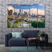 Atlanta wall art for living room, Georgia art prints on canvas