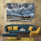 Aircraft cool canvas art, aerodrome wall art canvas prints