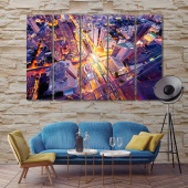 Bangkok wall art picture frames, Thailand canvas wall paintings