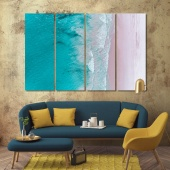 Sea surf wall decorating ideas with pictures, beach home art