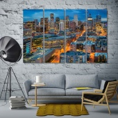 Colorado cool night city wall art