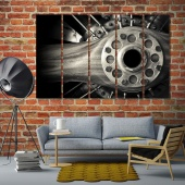 Wooden aircraft propeller living room wall pictures