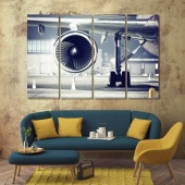 Airplane canvas art prints, wall pictures for living room