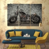 Motorcycle large wall art decor ideas for living room