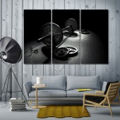 Barbell art prints on canvas, gym wall decoration ideas