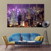 Hong Kong picture wall decor, China artwork for home