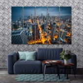 Illinois modern canvas wall art