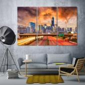 Chicago canvas wall decor, Illinois cool wall paintings