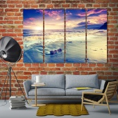 Sea art printing on canvas, beach decorative wall pictures