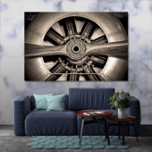 Aircraft art printing on canvas, wall art for office