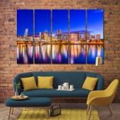 Portland wall decorations for bedrooms, Oregon art wall panels