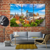 Birmingham home wall decor, Alabama wall art canvas prints