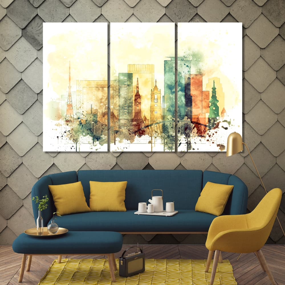 Slovakia prints on canvas ready to hang at your home or office Bratislava framed canvas wall art
