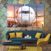 Aircraft modern contemporary wall art, airplane print canvas art