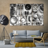 Old parts motorcycle wall decorating ideas with pictures