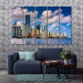 Miami large wall art canvas, Florida modern wall decorations