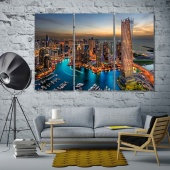 Dubai wall decor paintings, UAE art printing on canvas