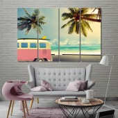 Sea beach wall decorations for bedrooms, beach print canvas art