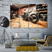 Motorbike canvas art prints, garage modern wall decor