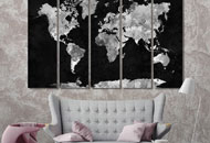wall prints with world maps