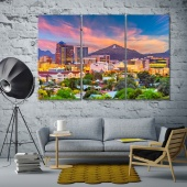 Tucson canvas wall art contemporary , Arizona print canvas art