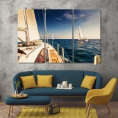 Yacht modern wall decorations, boat artwork for office