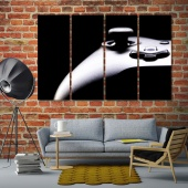 Game joystick cool canvas art, video games contemporary wall decor