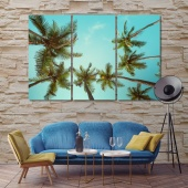 Big palm trees art and home decor, high trees print canvas art