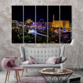 Las Vegas large wall art for living room, Nevada canvas prints art