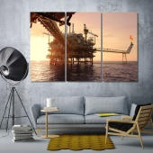 Offshore oil and gas industry large wall decorating ideas office