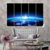 Planet contemporary wall decor, the space canvas prints art
