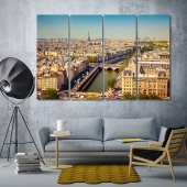 Paris wall decor and home accents, France framed canvas wall art