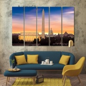 Washington DC wall canvas decor, United States modern wall pictures