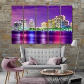 West Palm Beach decorations for wall, Florida art prints on canvas