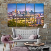 Cincinnati wall decor paintings, Ohio print canvas art