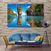 Thai scenic exotic landscape wall art canvas prints
