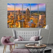 Atlanta wall art canvas painting, Georgia artwork pictures