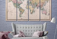Cool Ideas To Decorate Your Interior With Maps Vintage Prints