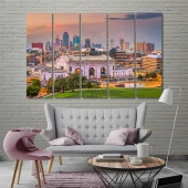 Kansas City modern wall paintings, ‎Missouri art prints on canvas