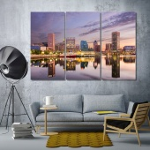 Baltimore art prints on canvas, Maryland modern wall decorations