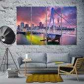 Auckland canvas wall art contemporary, New Zealand art for the home