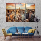New York home goods wall decor, United States wall art prints