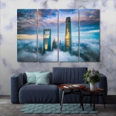 Shanghai large contemporary wall art, China cool wall decor