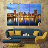 Baltimore modern wall decorations, Maryland print canvas art