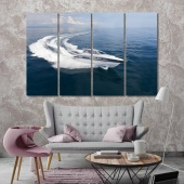 Boat wall art canvas prints, water transport decoration wall