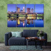 Columbus wall art canvas prints, Ohio home wall decor