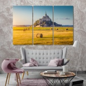 Mont Saint Michel modern wall decor ideas, France canvas art work