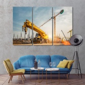Industrial construction contemporary wall art decor